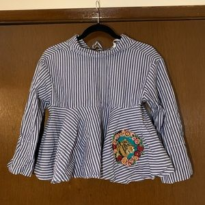 Zara Stripe Cropped Top